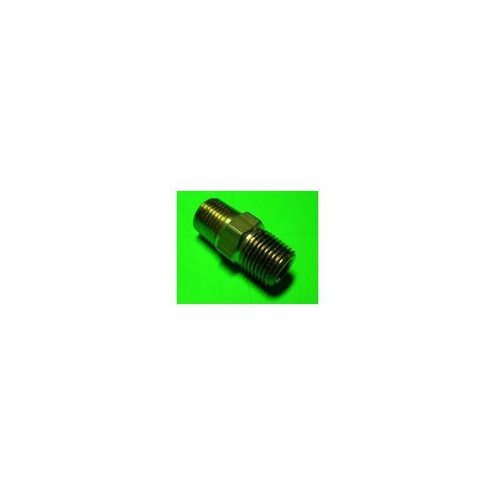 Nipple 1/8 dritto Ricambi per impianti a protossido d'azoto