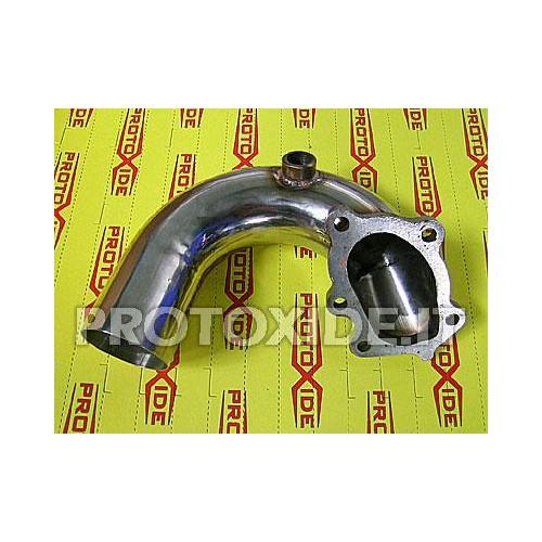 Downpipe scarico maggiorato Fiat Coupè 2000 20v Turbo - GT28 -GTX28 in acciaio Inox 5 cilindri Downpipe per motori turbo a be...