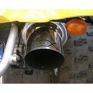 Quad sport lyddæmper til Yamaha Raptor 660R - 700R rustfrit stål Udstødningslygter og klemmer