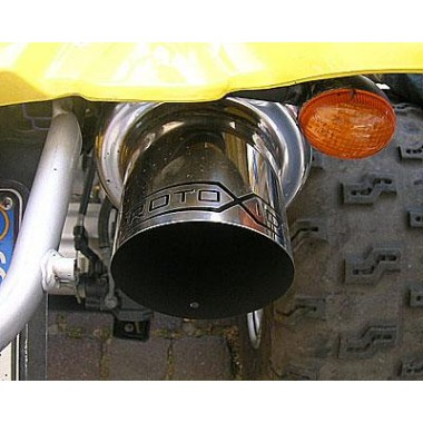 Silenciador deportivo para quads Yamaha Raptor 660r - 700r acero inoxidable Silenciadores de escape y terminales