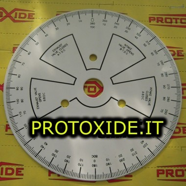 Graduated dial for timing cams - 280mm motor