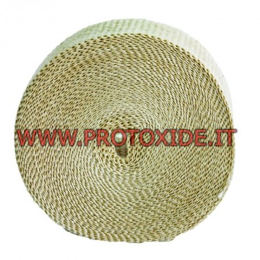 "Exhaust heat protection wrap band ""WHITE"" 4.5m x 5cm"