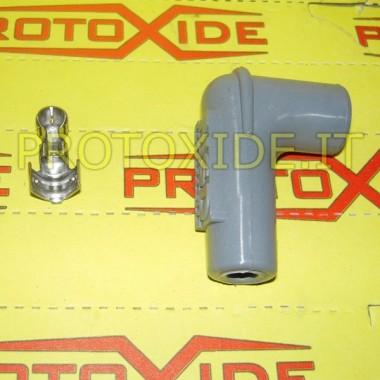 Tapa y terminal hembra a 90 ° para vela Candle cable y bricolaje terminales