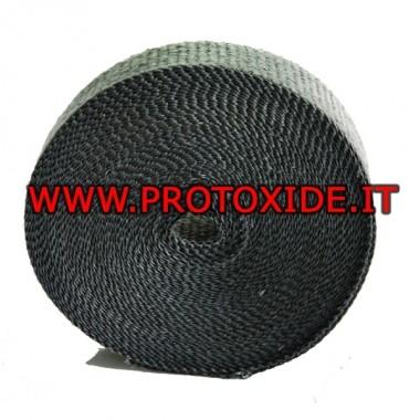 Benda grenrör och ljuddämpare SVART 4.5mx 5cm Bandage och värmeskydd