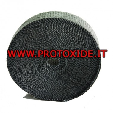 "Exhaust heat protection wrap band ""BLACK"" 4.5m x 5cm"