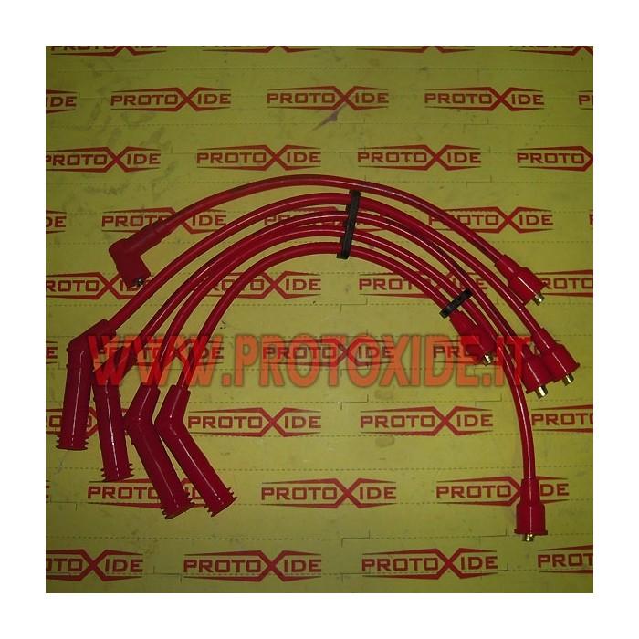Cavi candela per 112 Abarth rossi alta conducibilità  Cavi Candela specifici x auto