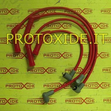 Cables de bujía del motor rojo Fiat Punto 1.100-1.200 8V de alta conductividad Cables de vela específicos para automóviles