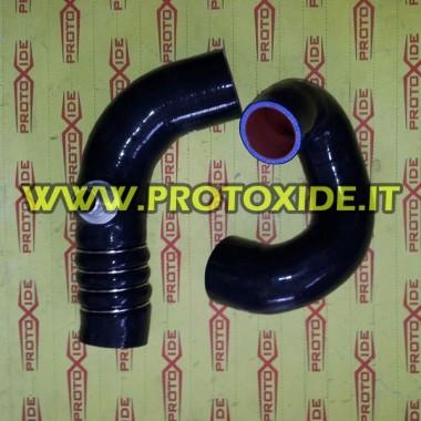 Black silicone pipe kit for Lancia Delta 8V