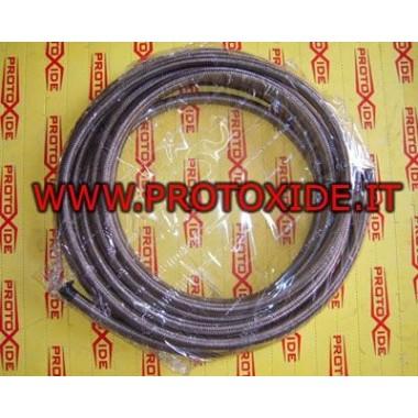 Metal slange 14mm Brændstofrør - flettet olie og luftfittings