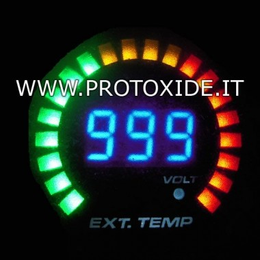 Temp Meter Voltmeter DigiLed exhaust and 52mm