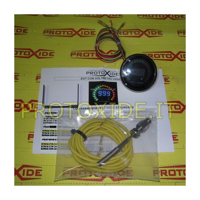 Misuratore Temp. gas di scarico e Voltmetro DigiLed 52mm