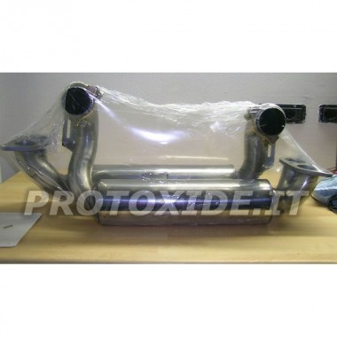 Stainless steel muffler for Ferrari 348