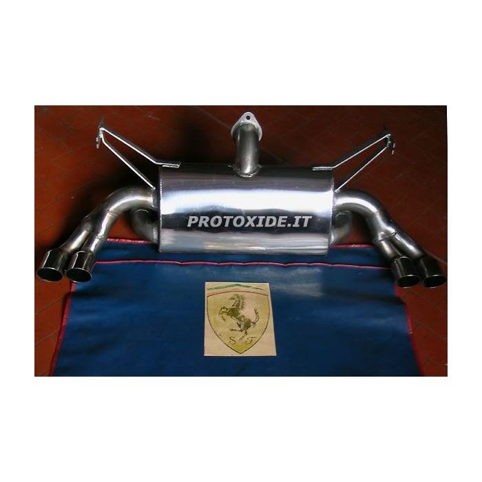 Stainless steel muffler for Ferrari 348