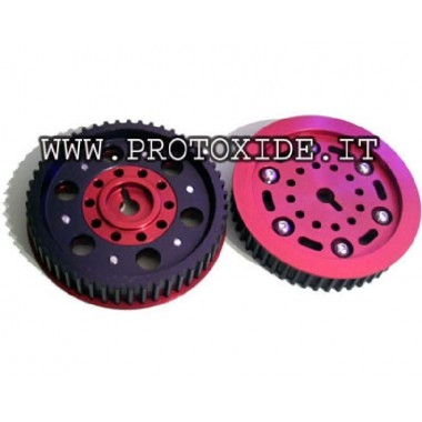 Adjustable pulleys for Lancia Delta 8-16V with scale Adjustable motor pulleys and compressor pulleys