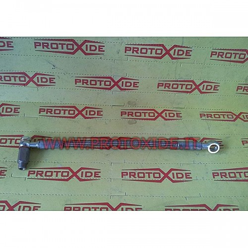 Oil tube in a metal sheath for Punto GT - Uno Turbo Oil pipes and fittings for turbochargers
