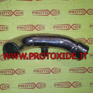 S.Steel Boostpipe for Punto GT with silicone hose - 50mm