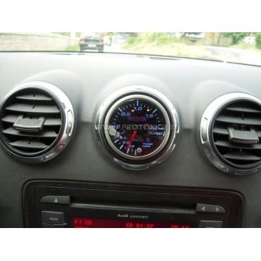 Turbo spiediena mērītājs uzstādīts uz Audi S3 - TT tipa 2 Spiediena mērinstrumenti Turbo, benzīns, eļļa