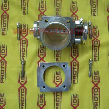 Cuerpo del acelerador CNC de aluminio de 70 mm Válvulas de mariposa sobredimensionadas
