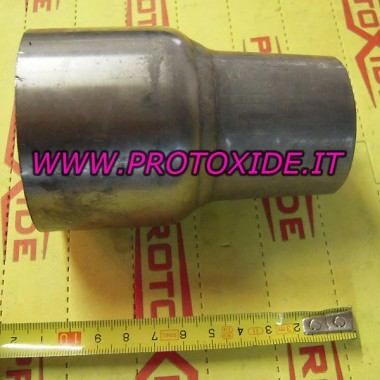 צינור פלדה מופחתת 76-65 צינורות נירוסטה מופחתים ישר