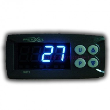 Exhaust gas temperature gauge with 4-digit display - BLUE