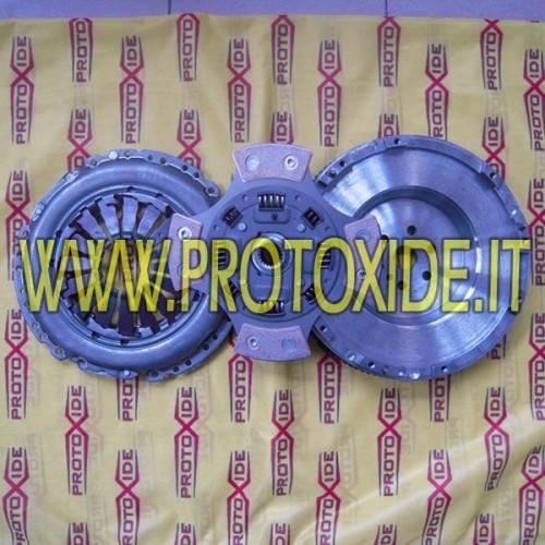 Kit steel single-mass flywheel, clutch Copper reinforced T-Jet Abarth Steel flywheel kit complete with reinforced clutch