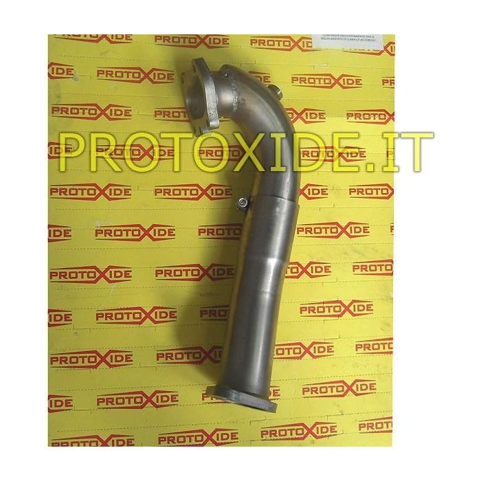 Downpipe escape curto 500 Grande Punto 1.4 para GT25-28-GTX28-GTO262