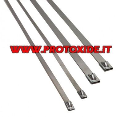 Abrazaderas de acero inoxidable para sujetar vendajes térmicos de 4 piezas Bendas de protección contra calor