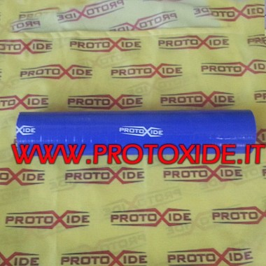 Tube de silicone Bleu 60 mm Manchons en silicone droit