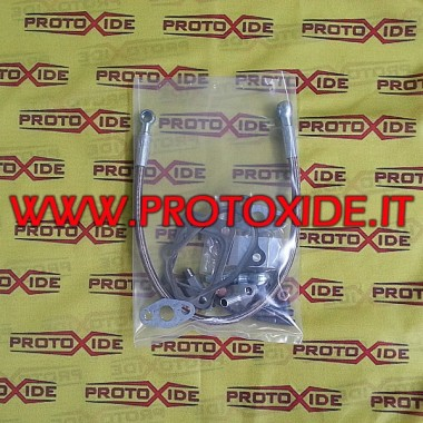 Kit de conexiones y tubos para 500 Grandepunto abarth con turbo GT25-GT28 Tubos de aceite y accesorios para turbocompresores