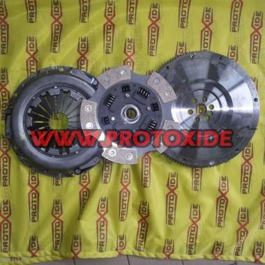 Volant acier + cuivre + Kit plaque de pression d'embrayage Fiat Punto GT Kit volant d'inertie en acier complet avec embrayage...