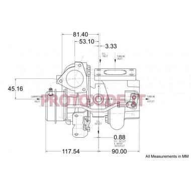 Garrett-Turbolader GT 2560R Turboladern auf Rennlager
