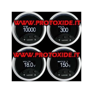 Prehliadač OBD2 4 parametre 52mm OBD2 a diagnostických nástrojov