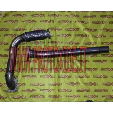 Downpipe di scarico maggiorato e marmitta Centrale per Punto GT Downpipe per motori turbo a benzina