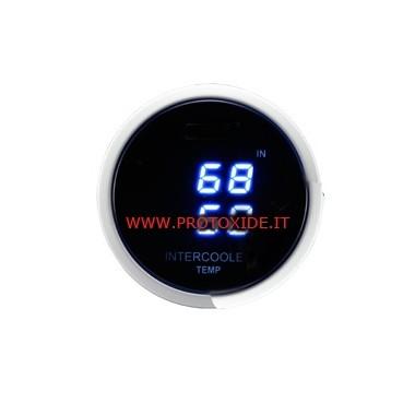 Lämpömittari ahtoilmanjäähdytin 52mm kahden näytön Lämpötilan mittauslaitteet