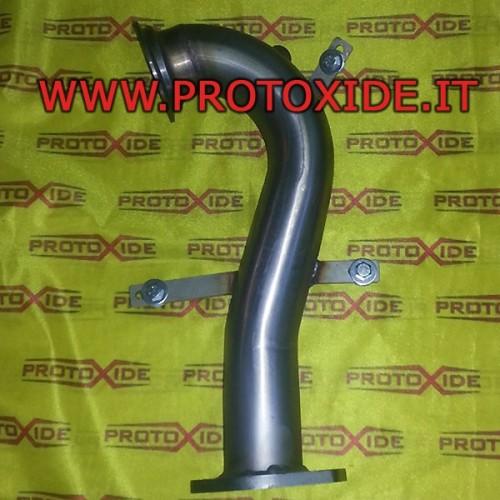 Downpipe scarico libero non catalizzato Fiat 500 Fiat Grandepunto Mito 1.400 per Turbo Garrett GT 1446 Downpipe per motori tu...