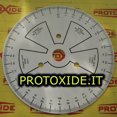 Disco graduado para configurar las levas - motor de 190 mm Herramienta para diagnóstico