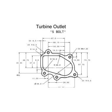 Turbocompresor Garrett GT 2560R Turbocompresores sobre cojinetes de carreras