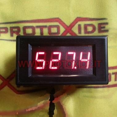Indicador de temperatura rectangular de gases de escape SOLO INSTRUMENTO Medidores de temperatura