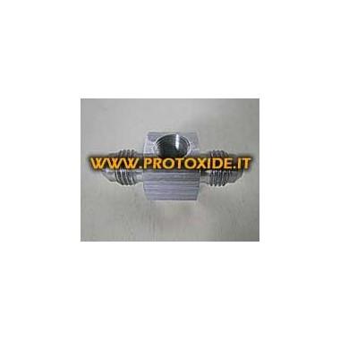 T-stykke aluminium gevind 4AN Reservedele til nitrousoxidsystemer