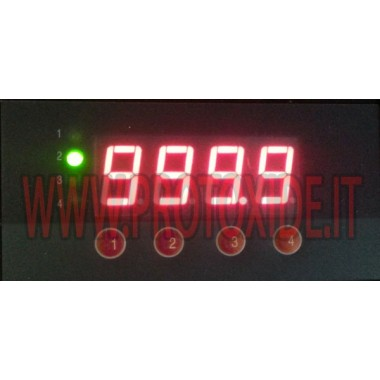 Misuratore Temp. gas scarico rettangolare con ingresso per 4 termocoppie in unico display