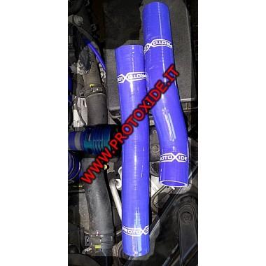 Água azul reforçado mangueiras de silicone Hyundai Genesis 2.0 turbo 2 peças.
