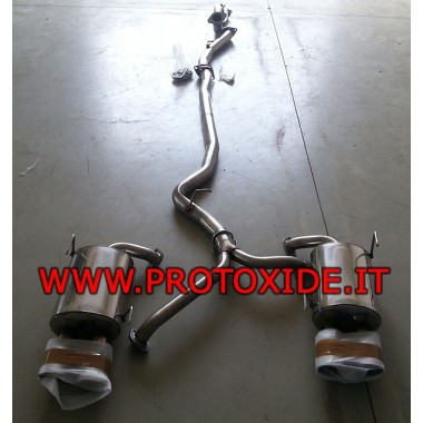 Full Exhaust Subaru Impreza Sedan no kat Complete stainless steel exhaust systems