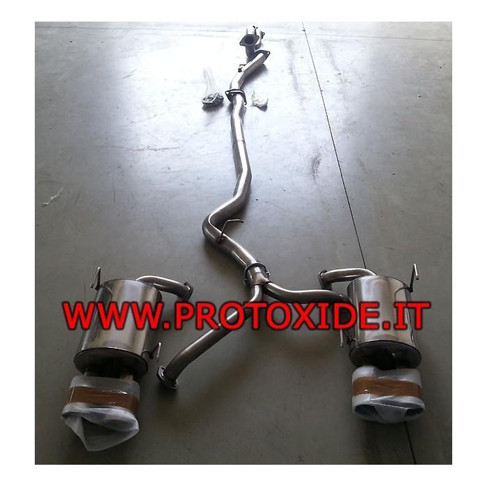 Fuld Udstødning Subaru Impreza Sedan ingen kat Komplet rustfrit stål udstødningssystemer
