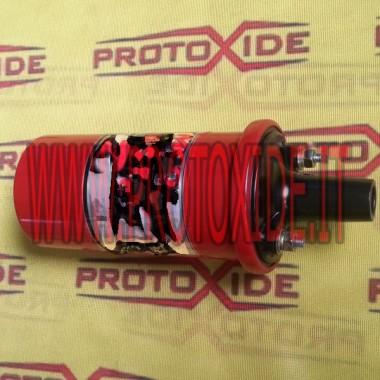 Bobina cilíndrica reforzada en rojo para sistemas con distribuidor Potencias y bobinas impulsadas