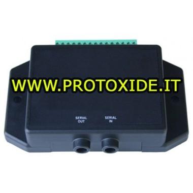 Interfaccia alimentata a 12 volt acquisizione 4 ingressi analogici 5 volt, digitali, frequenza e duty completo di software PC...