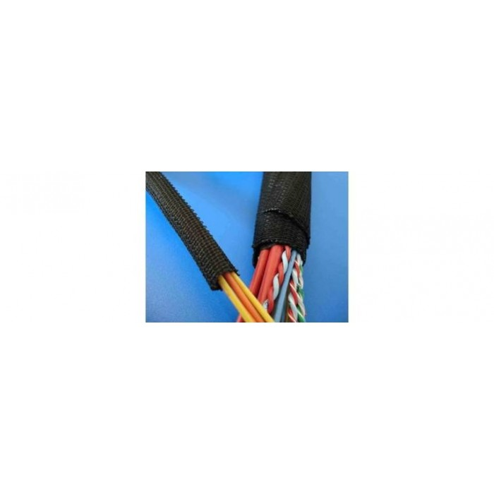 Funda negra inteligente para el paso de cables de motor que siempre se puede abrir y cerrar Bendas de protección contra calor