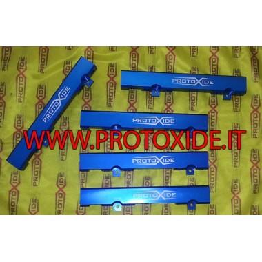Flauto iniettori maggiorato Fiat Punto Gt - Uno Turbo 1.400-1.600 alluminio Flauti maggiorati per iniettori