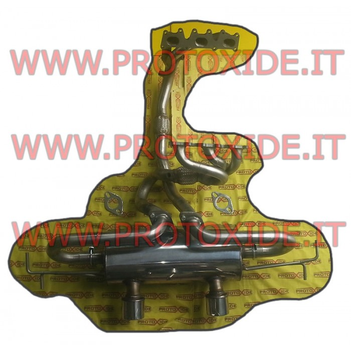 Escape completo de acero inoxidable Clio 3000 V6 Silenciadores de escape y terminales