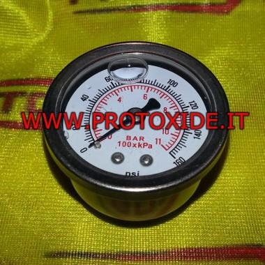 Degvielas spiediena mērītājs ar skrūvi Spiediena mērinstrumenti Turbo, benzīns, eļļa