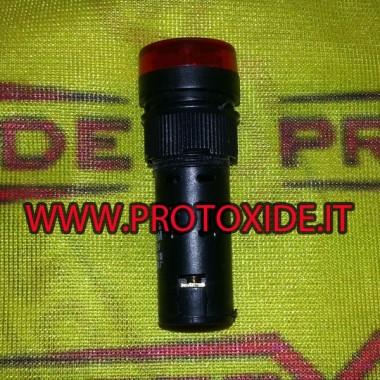 Alerta sonora y luz roja de 12v con timbre La instrumentación electrónica varía
